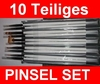10 teiliges Gel-Pinsel Set / Nailartpinsel / Pinselset